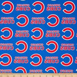 1/2 YARD Chicago Cubs MLB Cotton Fabric - 100% Cotton Fabric