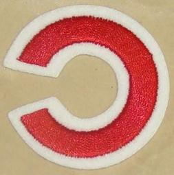 1 CHICAGO CUBS FULL SIZE HELMET EMBROIDERED STICKER DECAL