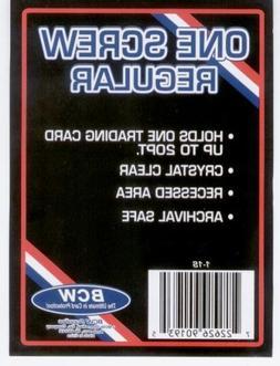 1  BCW 1 Screw Card Holder - 20 Pt. - Screwdown - Baseball C