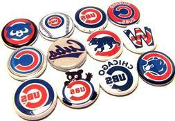 "12 CHICAGO CUBS Buttons 1"" PINS Wrigley WORLD SERIES BASEBAL"