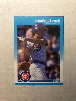 1987 Ryne Sandberg Chicago Cubs Fleer Box Bottom card C-14
