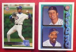 1995 & 1996 Topps Chicago Cubs Team Sets with Traded