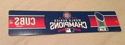 2016 Chicago Cubs World Series Champions Plastic Street Sign