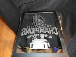 2016 WORLD SERIES CHAMPION CHICAGO CUBS 9X12 ETCHED MIRROR B