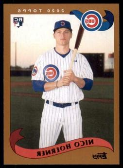 2020 Archives Base #240 Nico Hoerner - Chicago Cubs RC