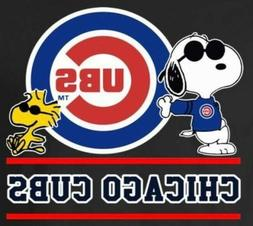 3 Chicago Cubs Cool Snoopy Waterproof Vinyl Stickers 3x2.5 C