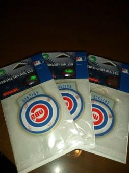 3 Pack Chicago CUBS MLB Licensed Air Fresheners- Fresh Scent