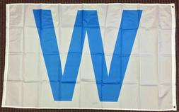 3x5 Light Blue W Flag Chicago Cubs Win Sports Banner Outdoor