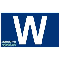 "4"" Chicago Cubs Win ""W"" Flag Vinyl Decal / Car Sticker"