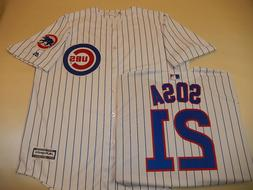 9601 Chicago Cubs SAMMY SOSA Cool Base Sewn Baseball Jersey