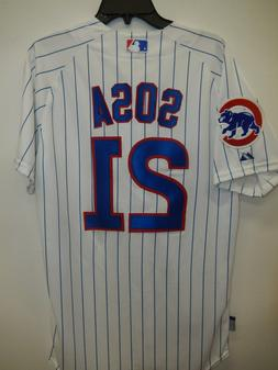 999 MAJESTIC Chicago Cubs SAMMY SOSA Authentic GAME Jersey W