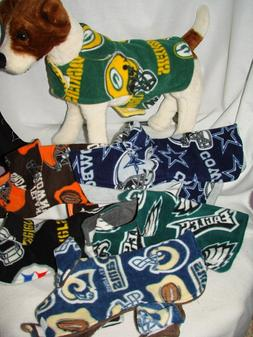 NFL & Sports Teams Fleece Dog Coat Size SMALL&Med. more styl