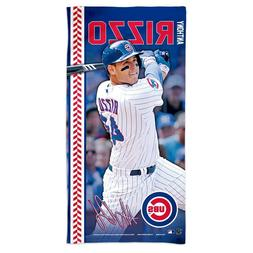 """ANTHONY RIZZO #44 CHICAGO CUBS 30""""X60"""" SPECTRA BEACH TOWEL N"""