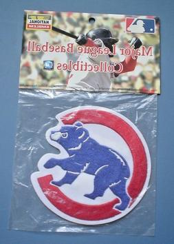 """AUTHENTIC MLB CHICAGO CUBS EMBLEM WITH BABY CUB  4"""" DIAMETER"""