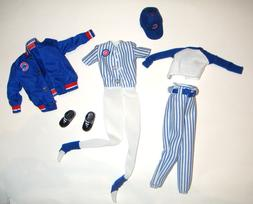 Barbie Doll Sized Chicago Cubs MLB Uniforms For Barbie Dolls