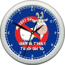 Billy Goat Curse Chicago Cubs Wall Clock World Series & Nati
