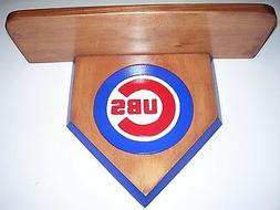 Bobble heads Chicago Cubs home display shelf  Stained Cherry
