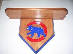 Bobble heads Chicago Cubs home plate Display shelf Stained C