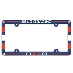 CHICAGO CUBS ~  Go Cubs MLB Plastic License Plate Frame Cove