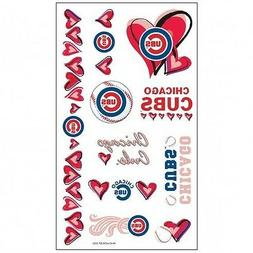 CHICAGO CUBS ~  Sheet of MLB Colored Girls Temporary Tattoos