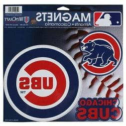 "Chicago Cubs WinCraft 11"" X 11"" 3-Pack Car Magnets"