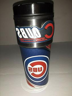 Chicago Cubs 16 oz Travel Mug with Stainless Steel Top and E