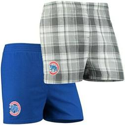 Chicago Cubs Concepts Sport 2-Pack Boxer Shorts - Charcoal