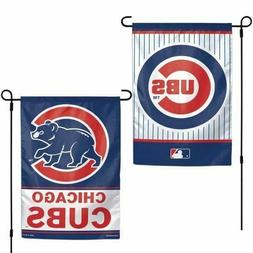 """Chicago Cubs 2 SIDED Classic GARDEN FLAG 12""""X18"""" YARD BANNER"""