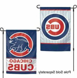 Chicago Cubs 2 Sided Double Garden Flag Outdoor Window Banne