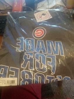 Chicago Cubs  2016  Made For October Dark Grey tee  DryFi Me