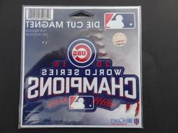 """Chicago Cubs 2016 World Series Champions 4"""" Die-Cut Car Magn"""