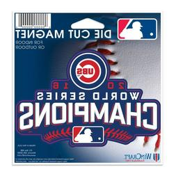 "Chicago Cubs 2016 World Series Champions 4"" Die-Cut Car Magn"