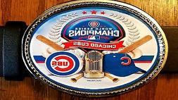 CHICAGO CUBS  2016 World Series Champions Epoxy Belt Buckle