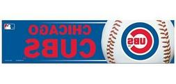 Chicago Cubs 3 x 12 Inch Bumper Sticker  MLB Strip Car Truck