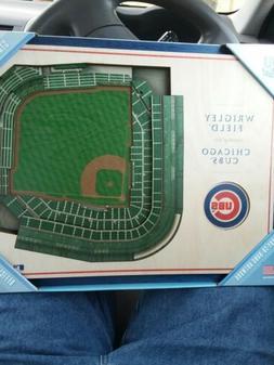 Chicago Cubs 3D Stadium Replica Frame Artwork