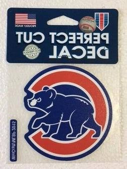 "Chicago Cubs 4"" x 4"" Alt Logo Truck Car Auto Window Die Cut"