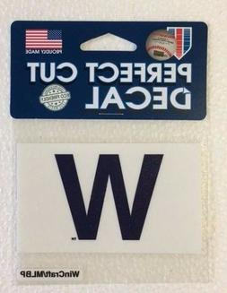 "Chicago Cubs 4"" x 4"" Win Flag ""W"" Truck Car Auto Window Die"