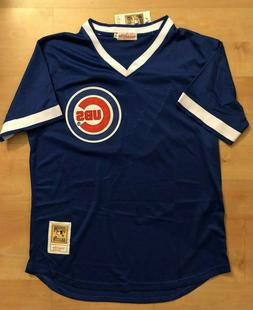 Chicago Cubs #17 Bryant  Throwback 1984 Jersey Blue Mesh pul