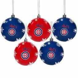 Chicago Cubs 5-Pack Set of Shatterproof Ball Ornaments