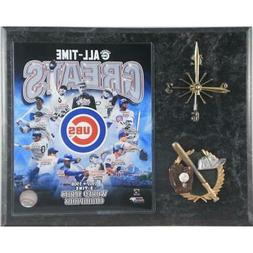 chicago cubs all time greats clock multicolor