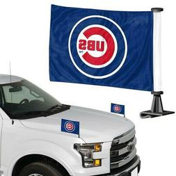 Chicago Cubs Ambassador Car Flag 2 Piece Set  MLB Banner Sig