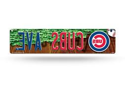 CHICAGO CUBS AVENUE ~ Team Logo Wall Display 4 x 16 Street S