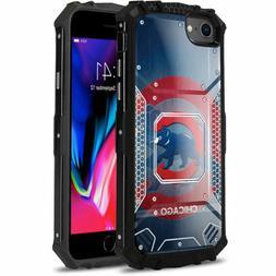 Chicago Cubs #B Aluminum Metal Armor Impact Case for iPhone