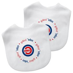 Chicago Cubs Baby Bib, 2 Pack Bibs, Officially Licensed MLB
