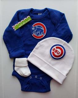 Chicago Cubs baby boy 3 pc outfit Cubs baby gift Cubs newbor