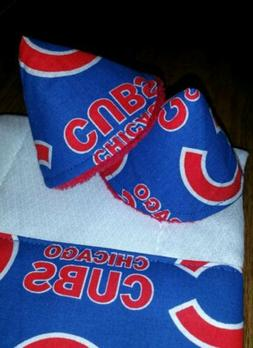 CHICAGO CUBS Baby Burp Cloth PERSONALIZED & TwO PPTP's NeW D