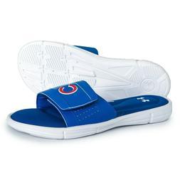 NEW Mens Under Armour Ignite MLB V Slide Sandals Chicago Cub