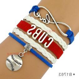 Chicago Cubs Baseball Infinity Bracelet MLB Charm QUALITY NO