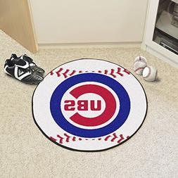 "Chicago Cubs Baseball Shaped Mat 27"" Diameter"