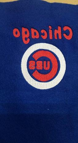 Chicago Cubs Baseball Towel Set, Personalized Bath Towels, B